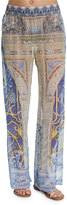 Camilla Printed Wide-Leg Coverup Pants