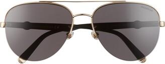 Moncler 62mm Oversize Aviator Sunglasses