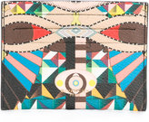 Givenchy geometric pattern cardholder - men - Cotton/Polyester/Polyurethane - One Size