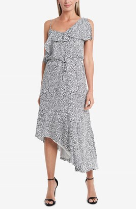 Vince Camuto Leopard-Print Asymmetrical Dress