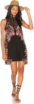 Free People Marsha Printed Slip in Black. - size XS (also in )