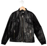 Christian Dior Boys' Leather Bomber Jacket