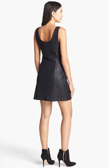 MinkPink 'On My Mind' Faux Leather Dress