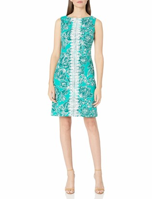 Pappagallo Women's Shift Dress with Centerfront Lace Detail