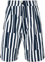 Sunnei striped shorts - men - Cotton - S