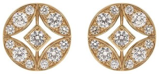 MARIANI 18kt rose gold diamond Lucilla stud earrings