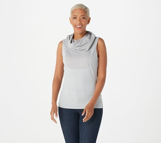 Kathleen Kirkwood Dictra-Ease French Terry Cowl-Neck