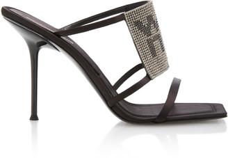 Alexander Wang Julie Crystal-Embellished Satin Sandals