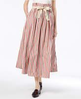 Max Mara Olivi Cotton High-Waisted Midi Skirt