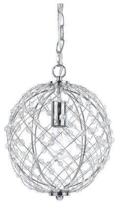 AF Lighting Round Silver Web Pendant