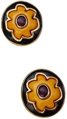 Guy Laroche Yellow Metal Earrings