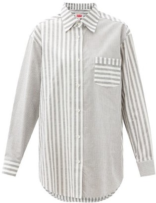 Solid & Striped The Oxford Oversized Striped Cotton-twill Shirt - Black Stripe