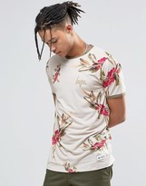 Hype Ringer T-Shirt With Floral Print