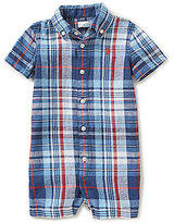 Ralph Lauren Baby Boys 3-12 Months Plaid Linen-Blend Shortall