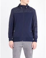 Michael Kors Interlock Shell And Cotton-jersey Jacket