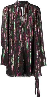 Saloni long-sleeve shift dress