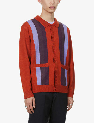Obey Archer striped woven cardigan