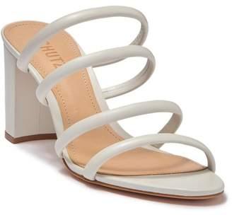 Schutz Felisa Block Heel Leather Sandal