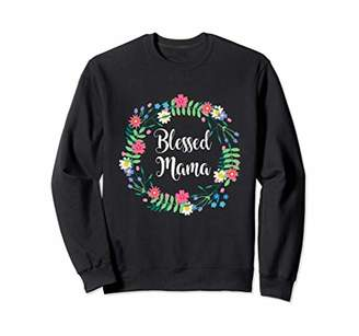 Floral Blessed Mama T Shirt Momma Mom Mommy Women Graphic Sweatshirt