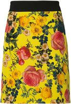 Fausto Puglisi floral print mini skirt - women - Silk/Spandex/Elastane/Viscose - 42