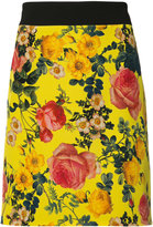 Fausto Puglisi floral print mini skirt