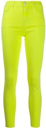 J Brand neon skinny jeans