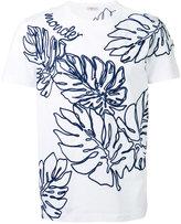 Moncler tropical leaf applique T-shirt - men - Cotton/Acrylic/Wool - M