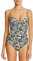 Paul Smith Floral Cutout Back One Piece Swimsuit