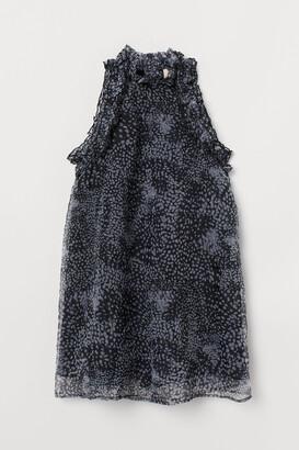 H&M Frill-trimmed A-line dress