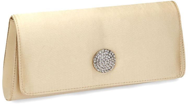 La Regale Embellished Satin Crossbody Clutch Handbag