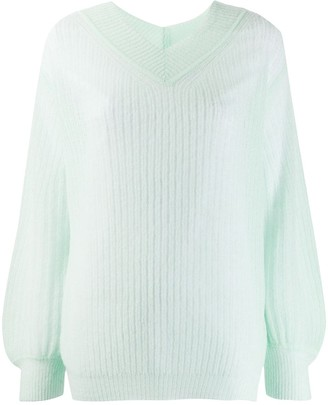 Forte Forte V-Neck Ribbed Jumper