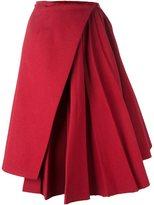 Off-White pleated asymmetric skirt