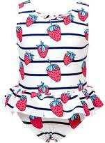 Snapper Rock Toddler Strawberry Skirt One Piece