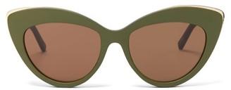 Le Specs Beautiful Stranger Cat-eye Sunglasses - Khaki Multi