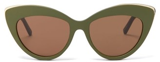 Le Specs Beautiful Stranger Cat-eye Sunglasses - Womens - Khaki Multi