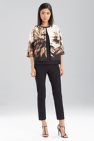 Josie Natori Printed Spring Cotton Jacket