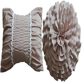 Greenland Tiana Decorative Pillow Pair Accessory, Taupe
