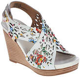 Me Too As Is Leather Perforated Cross Strap Wedges - Aubree