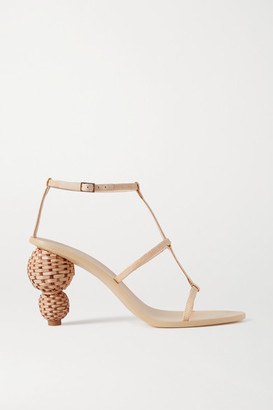 Cult Gaia Eden Raffia And Leather Sandals - Beige
