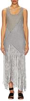 Proenza Schouler Asymmetrical Fringe Dress