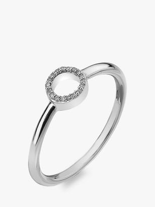 Hot Diamonds 9ct White Gold Diamond Infinity Ring
