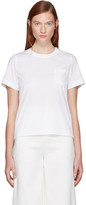 Sacai White Classic Shirting Pleated Shirt