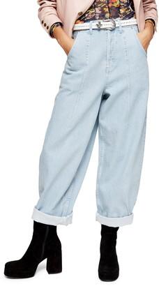 Topshop Balloon Leg High Waist Jeans