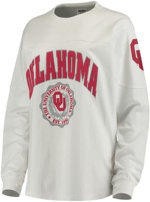 Women's White Oklahoma Sooners Edith Long Sleeve T-Shirt