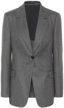 Brunello Cucinelli Wool-flannel blazer