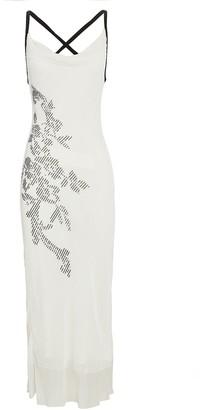 Cushnie Sequined Floral Slip Dress