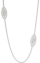 Roberto Coin 18K White Gold Bollicine Diamond Necklace, 37