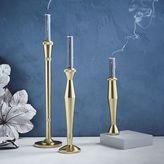 Sculpted Metal Candlesticks