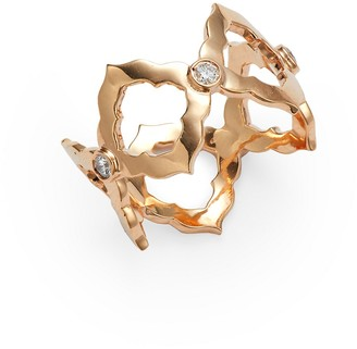 Sara Weinstock Chloe 18K Rose Gold Diamond Cutout Ring