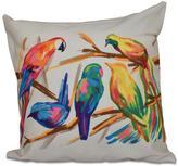 16 in. x 16 in. Happy Birds Print in Bisque Pillow